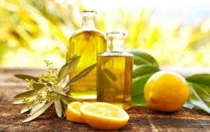 Lemons have Vitamin C, boosting properties that work as an astringent to aid in collagen production.
